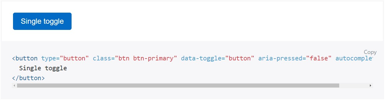 Toggle states  offered  by means of Bootstrap buttons