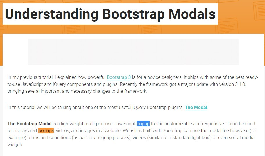 One more  helpful article  relating to Bootstrap Modal Popup