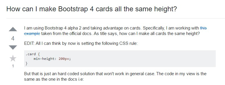 Insights on  precisely how can we  create Bootstrap 4 cards just the same tallness?