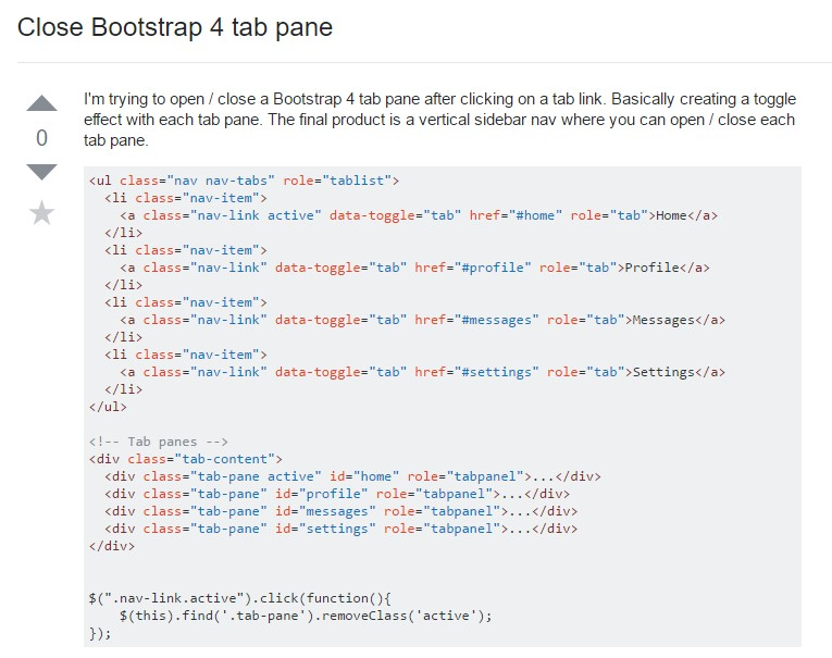 How you can  shut Bootstrap 4 tab pane