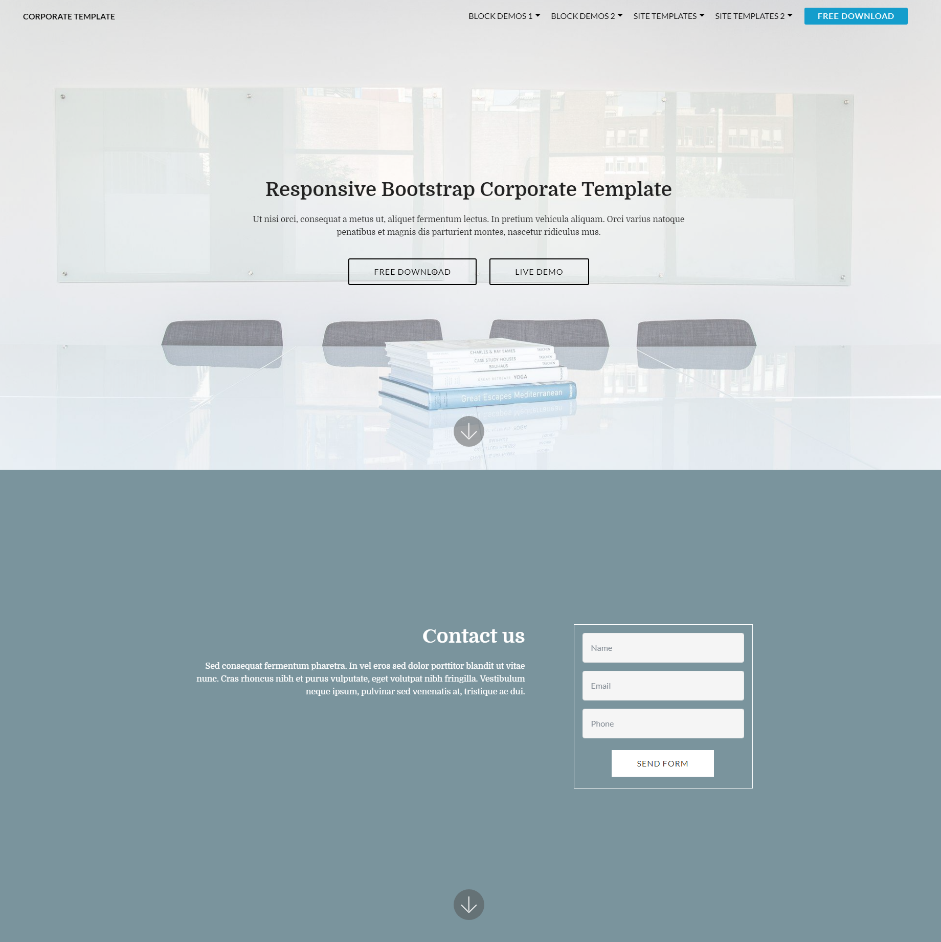 Free Bootstrap Corporate Themes