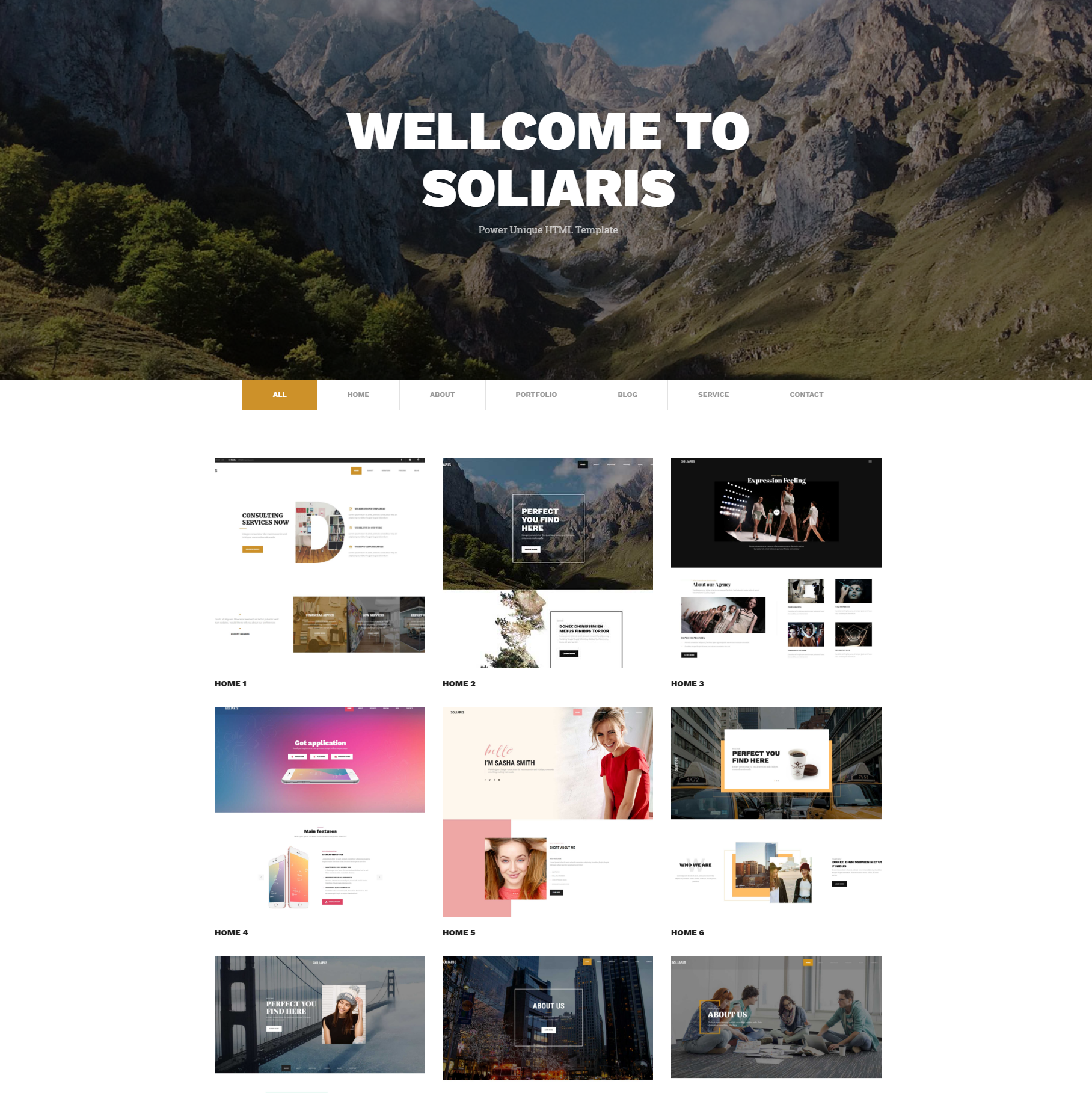 CSS3 Bootstrap Soliaris Themes