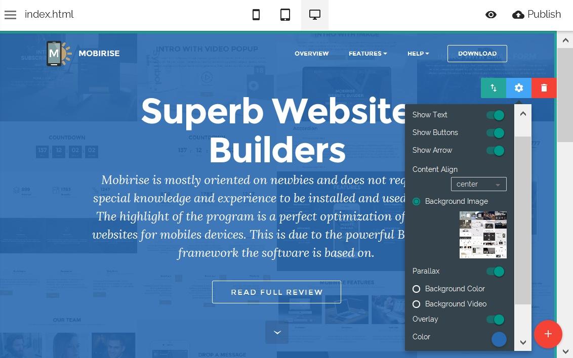 Mobile Site Editor