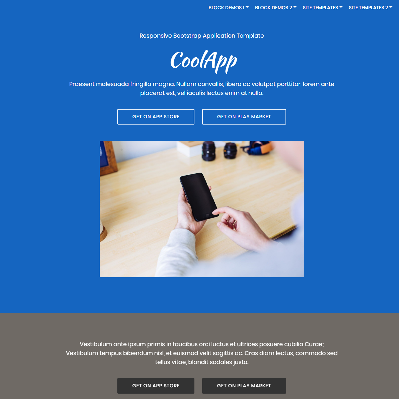 HTML5 Bootstrap Application Themes