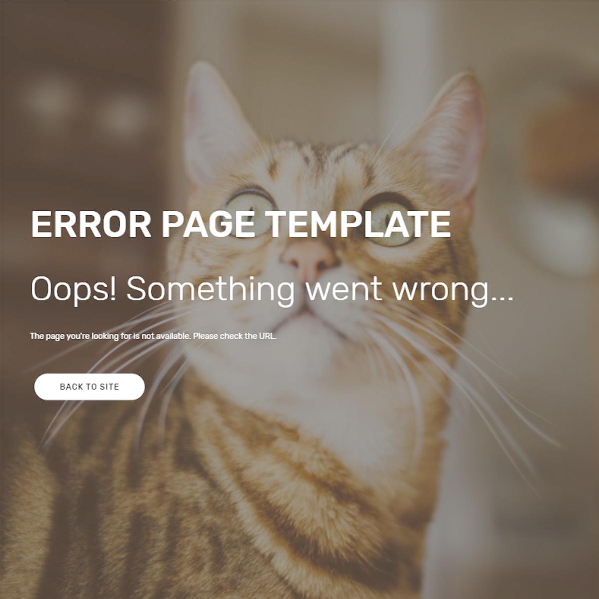 CSS3 Bootstrap Error Templates