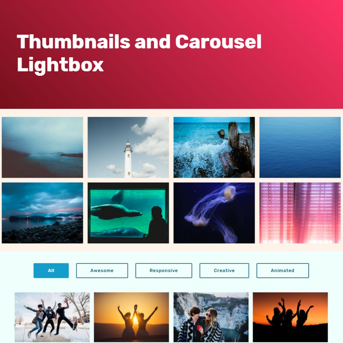 HTML Bootstrap Illustration Carousel