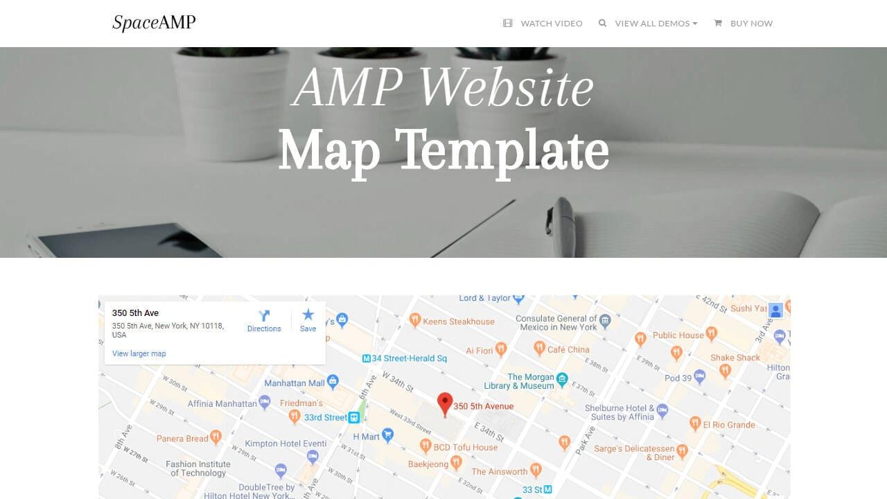 AMP Website Map Template